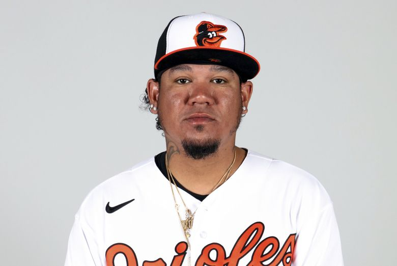 Former Mariners ace Felix Hernandez signed a minors deal with the Orioles in February. (Mary DeCicco / AP)