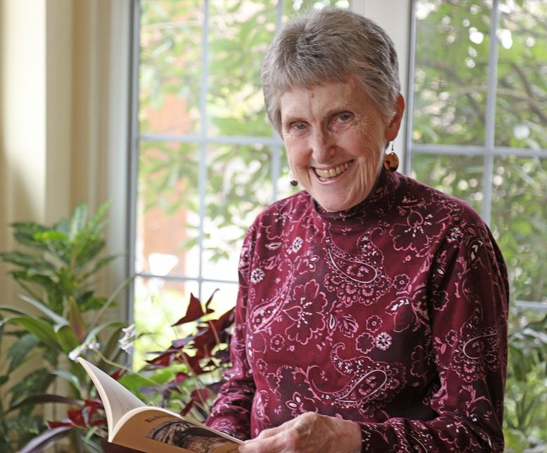 """Sylvia Byrne Pollack, 80, will be published as a poet for the first time April 1. Her debut work is entitled """"Risking It."""" (Greg Gilbert / The Seattle Times)"""