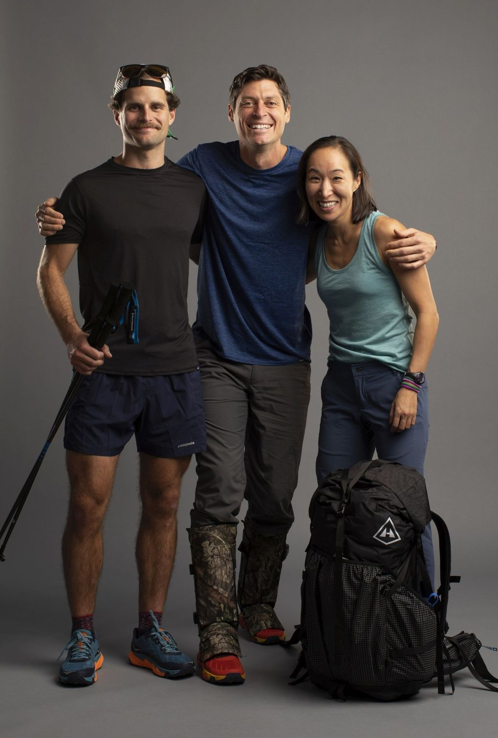"""Jay Wyatt, James Batey and Marilina Kim, teachers from The Bush School in Seattle, make up Team Southeast Asia on """"Race to the Center of the Earth."""" (Erik Umphery / National Geographic)"""
