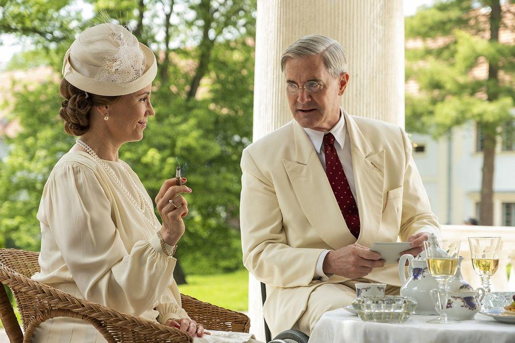 """Masterpiece: Atlantic Crossing"" tells a World War II story involving  Norwegian Crown Princess Martha (Sofia Helin) and President Franklin D. Roosevelt (Kyle MacLachlan). (Dusan Martincek / Courtesy of Masterpiece)"