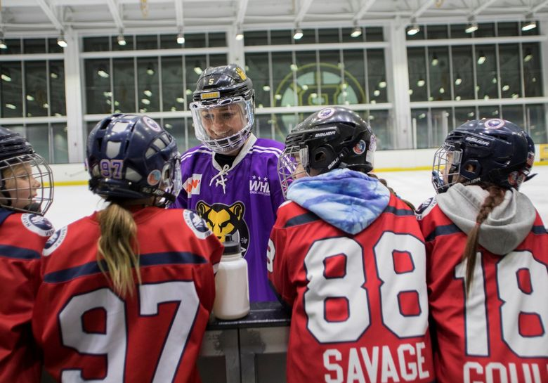 Snohomish native Lexi Bender (facing) spent four seasons as an All-Star defender with the Boston Pride of the National Women's Hockey League. (Courtesy of Lexi Bender)