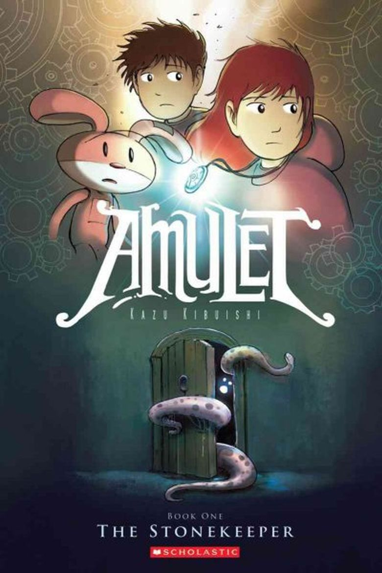 """Kazu Kibuishi's """"Amulet"""" manga series is about kids trying to save the world. (Scholastic)"""