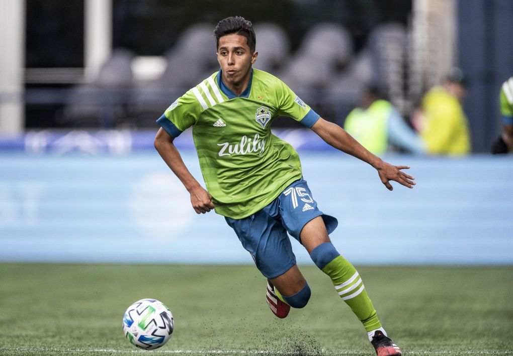 Danny Leyva got his first MLS start Sunday. The Chicago Fire played the Seattle Sounders in the MLS opener for both teams Sunday, March 1, 2020 at CenturyLink Field in Seattle, WA. (Dean Rutz / The Seattle Times)