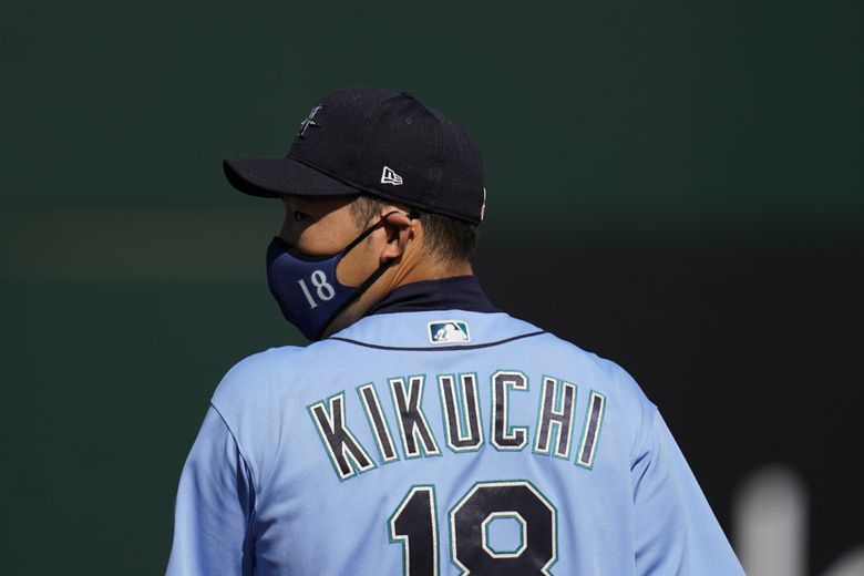 Mariners starting pitcher Yusei Kikuchi, shown during a March 8 game against the Indians. (Ross D. Franklin / The Associated Press)