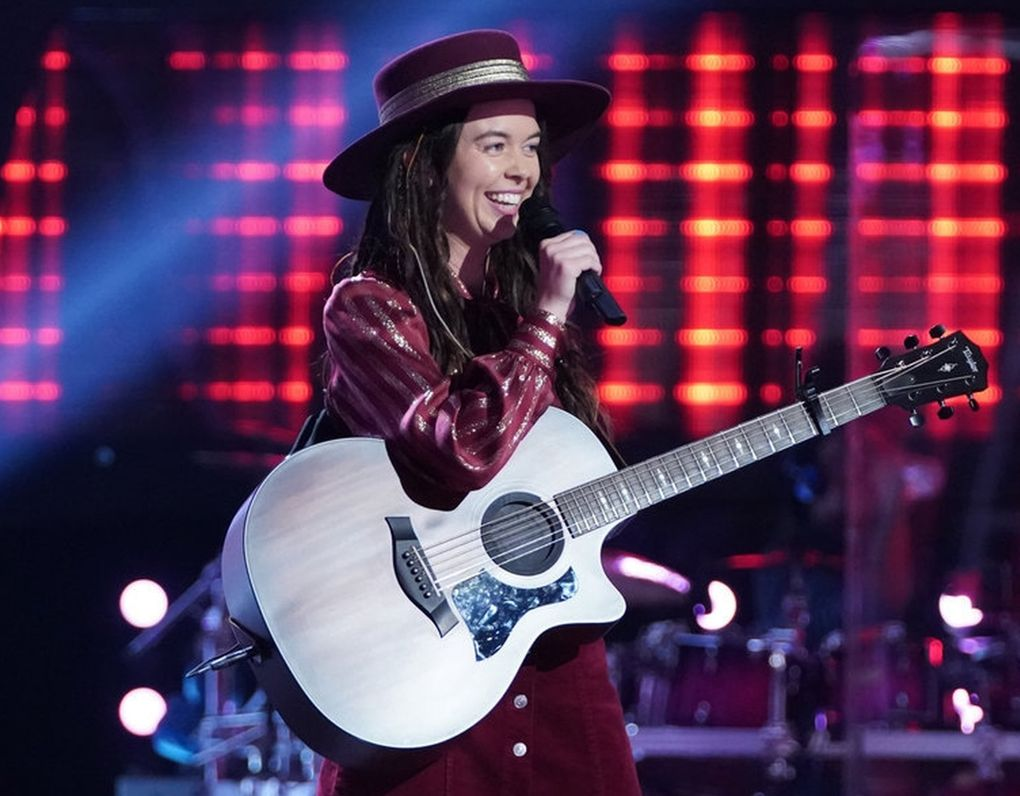 """Savanna Woods, 26, from Stanwood, also became part of Team Kelly this season on """"The Voice."""" (Tyler Golden / NBC)"""