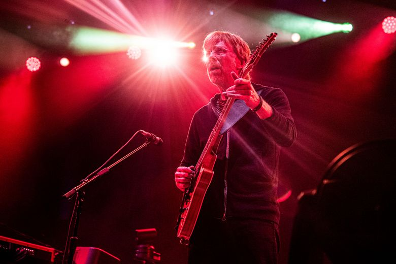 Trey Anastasio of Phish performs at the Bonnaroo Music and Arts Festival on Friday, June 14, 2019, in Manchester, Tenn. Anastasio plans to start a substance use disorder treatment center in Vermont, where the band was formed in 1983. Anastasio, who is now 14 years sober, announced Thursday, March 4, 2021 that his Divided Sky Foundation has purchased a building for the nonprofit center in Ludlow. (Photo by Amy Harris/Invision/AP)