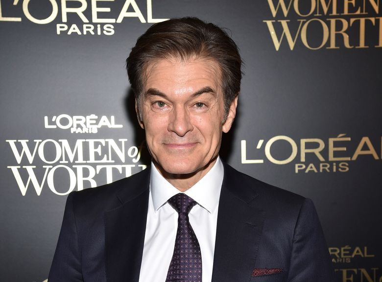 """Dr. Mehmet Oz, seen in 2019, is a cardiac surgeon and longtime host of TV's """"Dr. Oz Show."""" (Photo by Evan Agostini/Invision/AP, file)"""