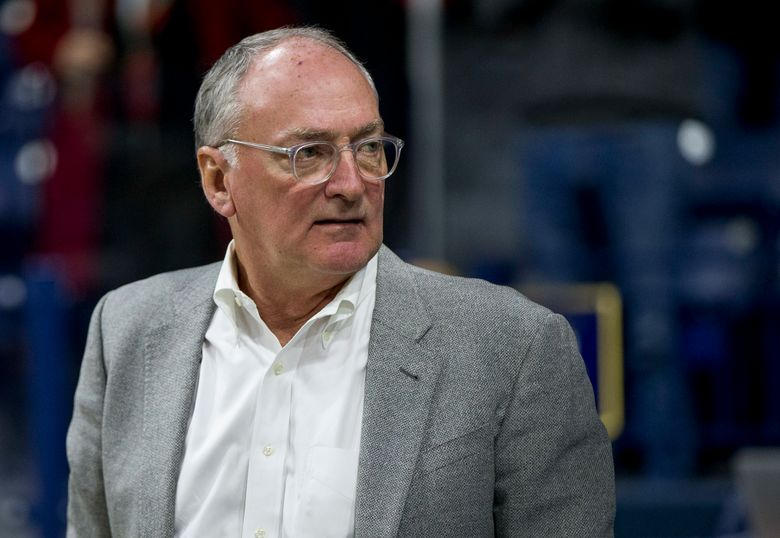 fILE – In this Nov. 13, 2017, file photo, Notre Dame athletic director Jack Swarbrick attends an NCAA college basketball game between Notre Dame and Mount St. Mary's in South Bend, Ind. Swarbrick tells The Associated Press the school went public with its decision to not be included in EA Sports' new college football video game because the NCAA's proposed rule changes would prevent the names, images and likeness of players from being used in the game. (AP Photo/Robert Franklin, File)