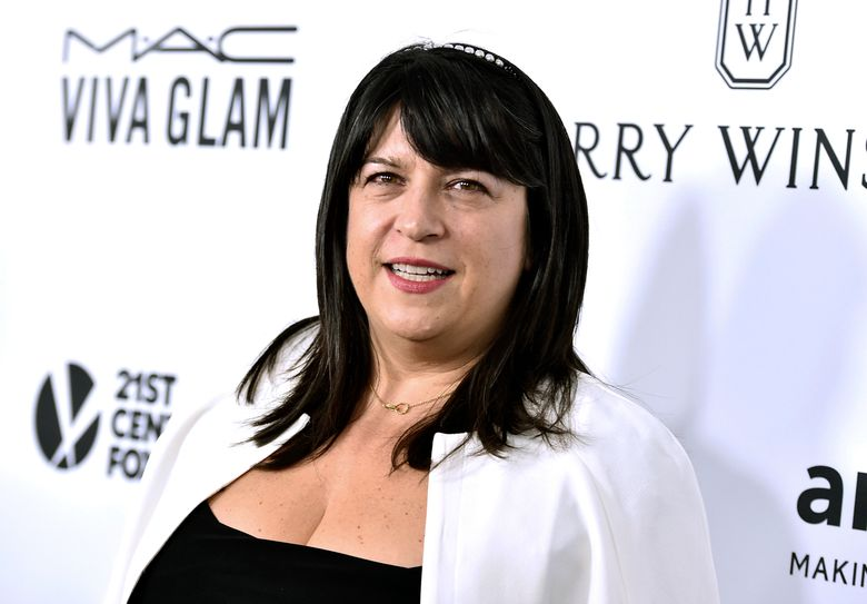 """FILE – In this Oct. 29, 2015 file photo, author E L James arrives at the amfAR Inspiration Gala in Los Angeles.  """"Freed: Fifty Shades Freed as told by Christian,""""  the conclusion to James's trilogy, is set to hit shelves on June 1, 2021, the publisher said Sunday, March 7.  (Photo by Jordan Strauss/Invision/AP, File)"""