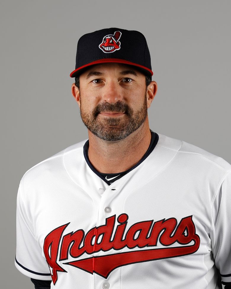 FILE – This is a 2016 file photo showing Mickey Callaway of the Cleveland Indians baseball team. Indians president of baseball operations Chris Antonetti said he couldn't comment on previous remarks made about Mickey Callaway's behavior due to Major League Baseball's ongoing investigation into allegations the team's former pitching coach sexually harassed women. Antonetti joined manager Terry Francona for his Zoom availability on Wednesday, March 3, 2021, a day after a story by The Athletic said several former Indians employees had come forward in the last month to say the team's front office was aware of Callaway's actions. (AP Photo/Morry Gash, File)