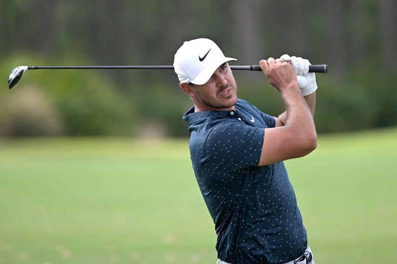 Brooks Koepka hits from the seventh fairway during the final round of the Workday Championship golf tournament Sunday, Feb. 28, 2021, in Bradenton, Fla. (AP Photo/Phelan M. Ebenhack)