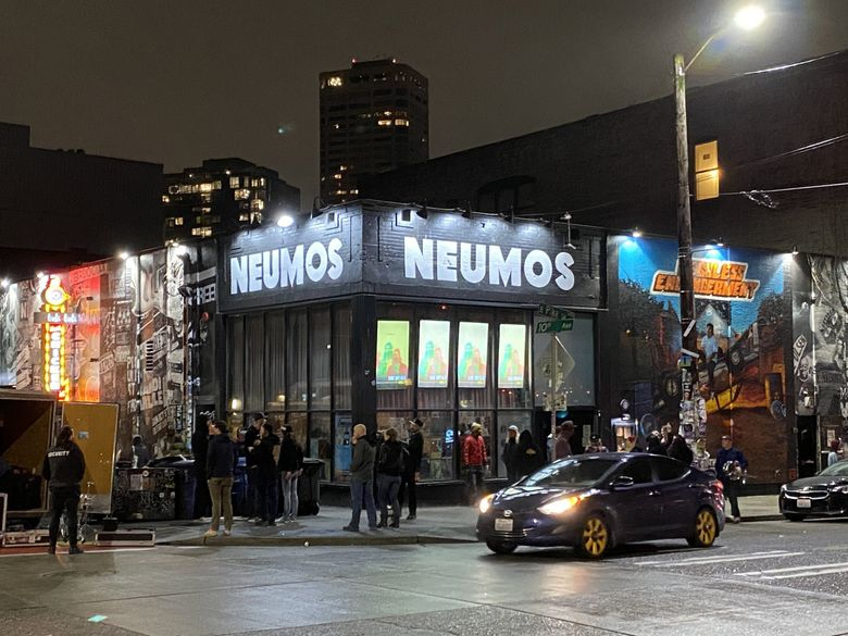 """Capitol Hill music venue Neumos, shown here in pre-pandemic times, is one of many live-performance venues hit hard by the pandemic. Steven Severin, co-owner of Neumos, hopes a new grant relief program that opened for applications Thursday will provide some help. But """"it's not going to, by any means, make us whole,"""" he said. (Michael Rietmulder / The Seattle Times, file)"""