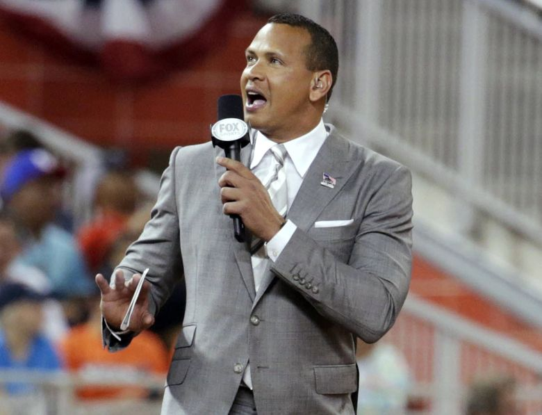 In this July 11, 2017, file photo, former baseball player Alex Rodriguez reports from the field during the MLB baseball All-Star Game in Miami. Rodriguez and e-commerce mogul Marc Lore have signed a letter of intent to buy the Timberwolves and keep the NBA franchise in Minnesota. Timberwolves owner Glen Taylor confirmed the agreement, which includes the WNBA's Minnesota Lynx. The two sides have a 30-day window for negotiations to be finalized.  (Lynne Sladky / The Associated Press)