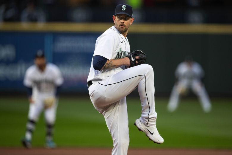James Paxton gets his first start of the season against the White Sox Tuesday.  The Chicago White Sox played the Seattle Mariners Tuesday, April 6, 2021 at T-Mobile Park in Seattle, WA. 216787 (Dean Rutz / The Seattle Times)