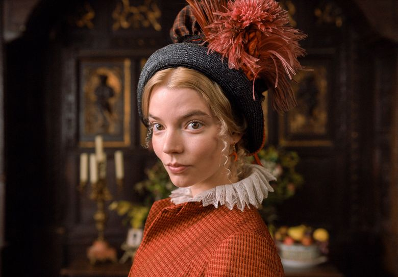 """Anya Taylor-Joy stars as Emma Woodhouse in director Autumn de Wilde's """"Emma,"""" a Focus Features release. (Courtesy of Focus Features)"""