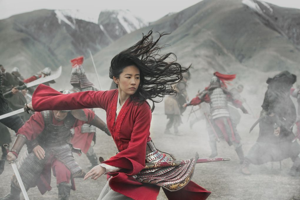 """Yifei Liu stars in Disney's live-action drama """"Mulan,"""" nominated for an Academy Award for best costume design. (Jasin Boland / Disney)"""