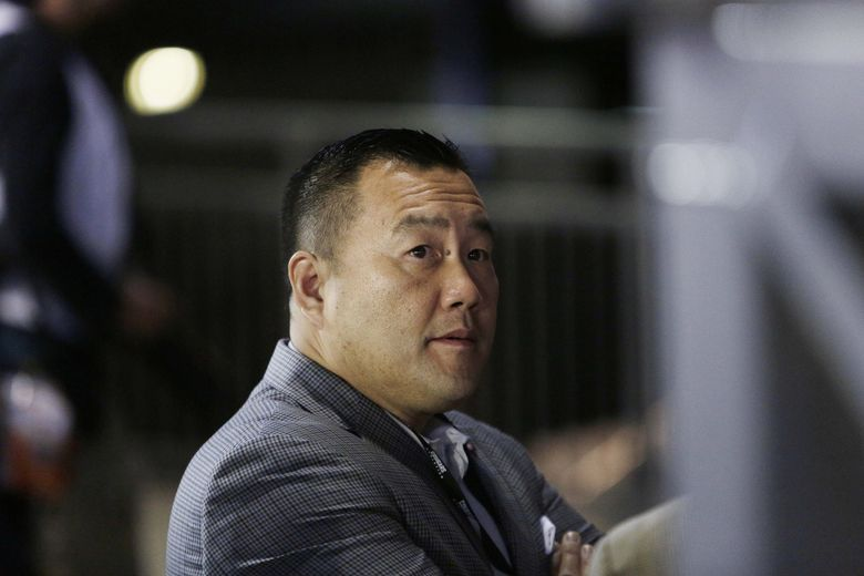 Washington State athletic director Pat Chun looks on before an NCAA college football game between Washington State and San Jose State in Pullman, Wash., Saturday, Sept. 8, 2018. (AP Photo/Young Kwak)
