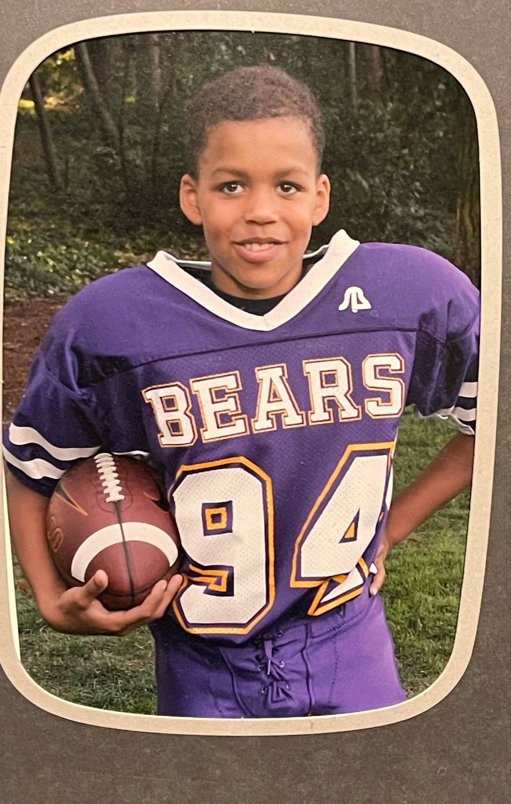 Former UW edge rusher Joe Tryon, a Newcastle native, began playing football at age 9.  (Courtesy Andrea Tryon / )