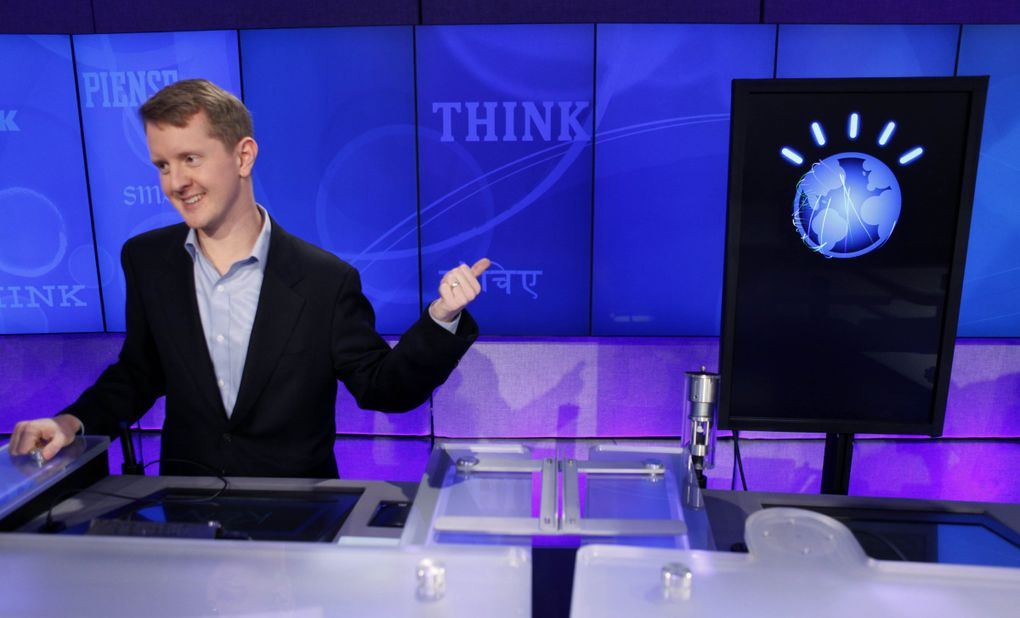 """""""Jeopardy!"""" contestant and Seattleite Ken Jennings, won a record 74 consecutive games on the show, and has since completed a stint as a guest host. (Seth Wenig / The Associated Press)"""