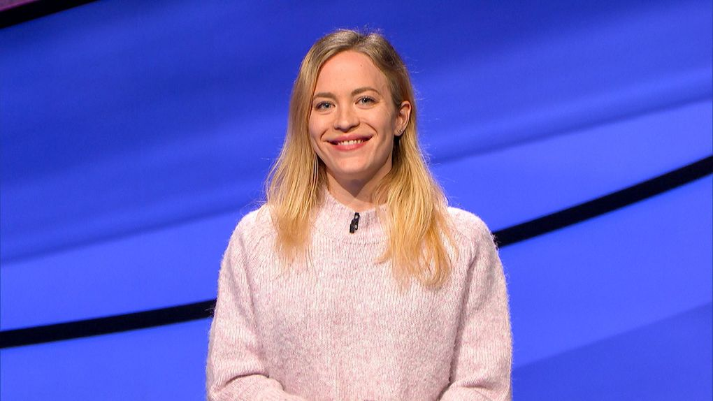 """Seattle's Leah Caglio appeared on """"Jeopardy!"""" on Wednesday, April 28. The self-confessed trivia nerd won $17,500.  (Courtesy Jeopardy Productions, Inc.)"""