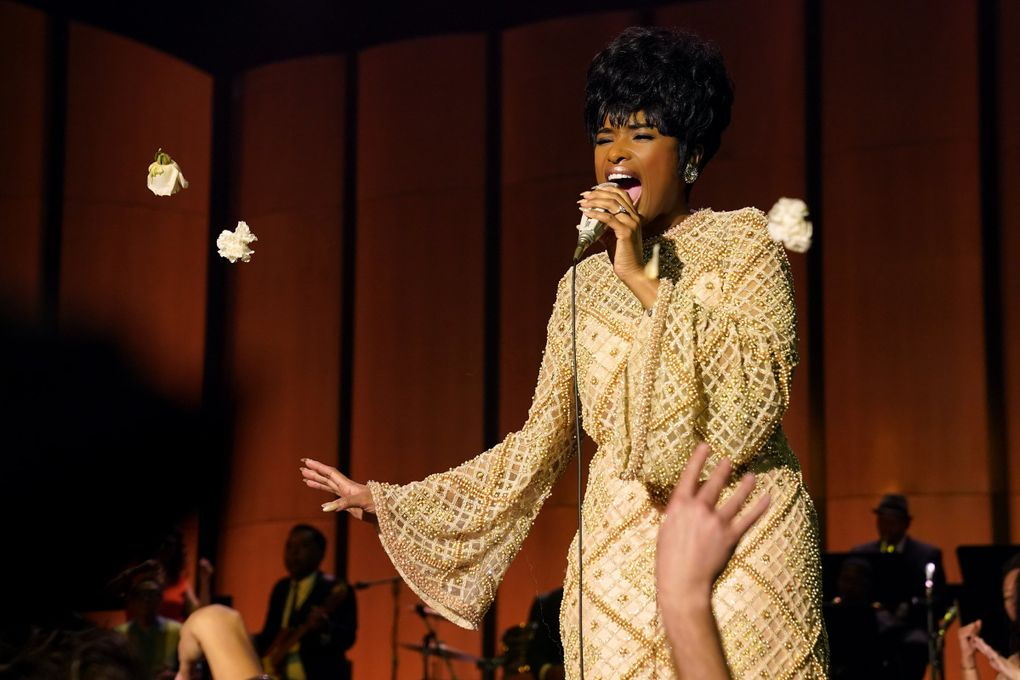 """Jennifer Hudson stars in """"Respect,"""" a biopic of the queen of soul, the late Aretha Franklin. (Quantrell D. Colbert / Metro-Goldwyn-Mayer Pictures)"""