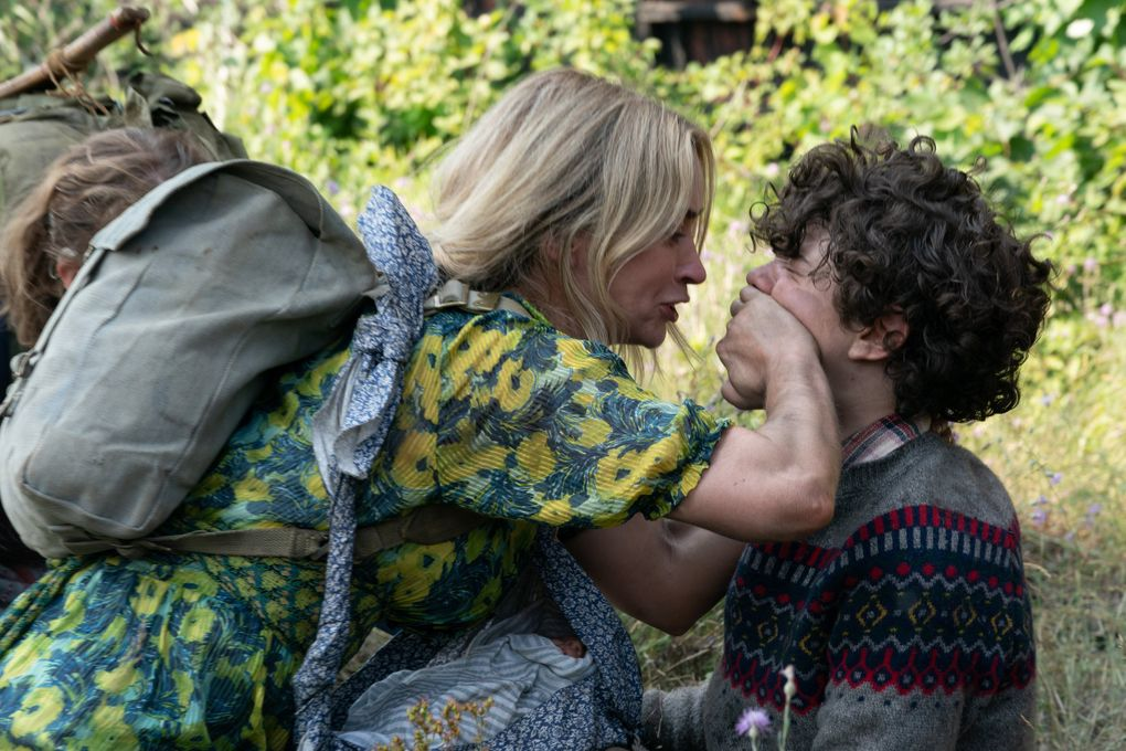 """Emily Blunt and Noah Jupe return in the unsettlingly silent horror sequel """"A Quiet Place Part II."""" (Jonny Cournoyer / Paramount Pictures)"""
