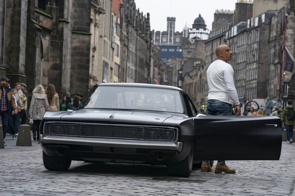 """Leading man Vin Diesel returns in """"F9,"""" out June 25. (Newell Todd / NBC Universal)"""