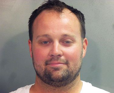 This photo provided by the Washington County (Ark.) Jail shows Joshua Duggar. Former reality TV Star Josh Duggar is being held in a northwest Arkansas jail after being arrested, Thursday, April 29, 2021 by federal authorities, but it's unclear what charges he may face.  (Washington County Arkansas Jail via AP)