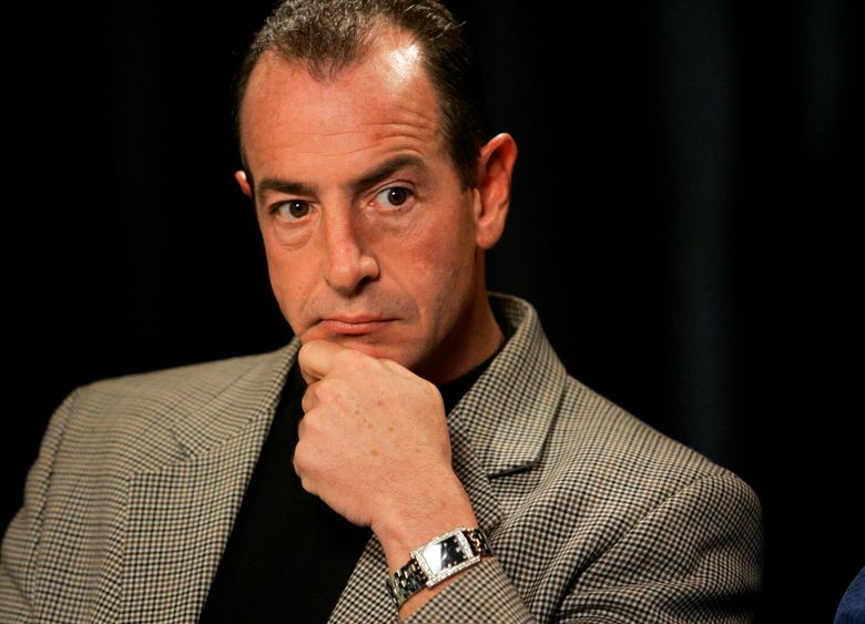 FILE – In this Wednesday, Oct. 24, 2007, file photo, Michael Lohan is interviewed in New York. The estranged father of actress Lindsay Lohan was arrested Friday, April 23, 2021, on charges that he illegally took kickbacks for referring patients to a substance abuse treatment center. The Palm Beach Post reports that 60-year-old Michael Lohan was booked into jail on five counts of patient brokering and one count of conspiracy to commit patient brokering. (AP Photo/Richard Drew, File)