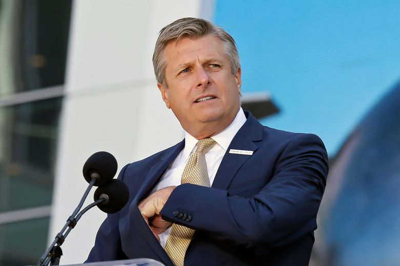FILE – In this Sept. 3, 2019, file photo, Golden State Warriors COO and President Rick Welts is shown during the ribbon cutting ceremony of the Chase Center in San Francisco. Welts will leave his job as Golden State Warriors president and chief operating officer after this season and stay in the organization as an adviser. This is Welts' 10th season with the team, and the Warriors said Thursday, April 8, 2021 they expect to name his successor within a week. (AP Photo/Eric Risberg, File)