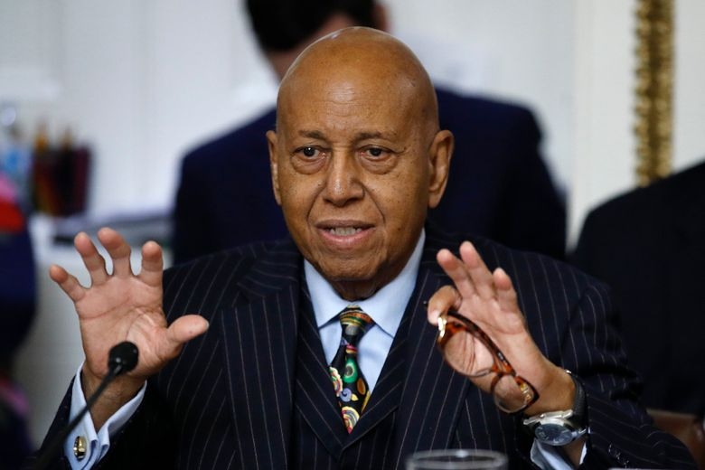 U.S. Rep. Alcee Hastings, D-Fla., speaks ec. 17, 2019, at a House Rules Committee hearing on the impeachment of President Donald Trump in Washington. Hastings, the longtime congressman from Florida, has died after a two-year fight with pancreatic cancer. The Palm Beach County Democrat died Tuesday, April 6, 2021, according to his chief of staff, Lale M. Morrison. (AP Photo / Patrick Semansky, File)