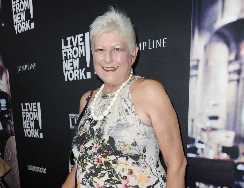 """FILE – Anne Beatts arrives at the premiere of """"Live from New York!"""" in Los Angeles on June 10, 2015. Beatts, a groundbreaking comedy writer who was on the original staff of """"Saturday Night Live"""" and later created the cult sitcom """"Square Pegs,"""" died Wednesday, April 7, at her home in West Hollywood, California, according to her close friend Rona Kennedy. She was 74. (Photo by Richard Shotwell/Invision/AP, File)"""