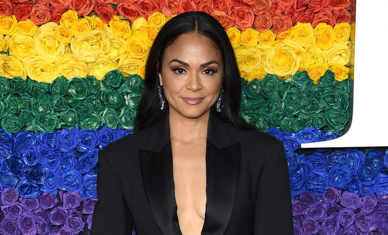 """FILE – Karen Olivo arrives at the 73rd annual Tony Awards on June 9, 2019, in New York. The Tony Award-winner says she won't return to """"Moulin Rouge! The Musical"""" once it reopens, saying she's frustrated by the Broadway industry and especially the silence in the wake of revelations about the behavior of producer Scott Rudin. The musical is not produced by Rudin but Olivo in an Instagram video posted Wednesday, April 14, 2021, said she was not coming back to the show to make a stand about social justice. (Photo by Evan Agostini/Invision/AP, File)"""