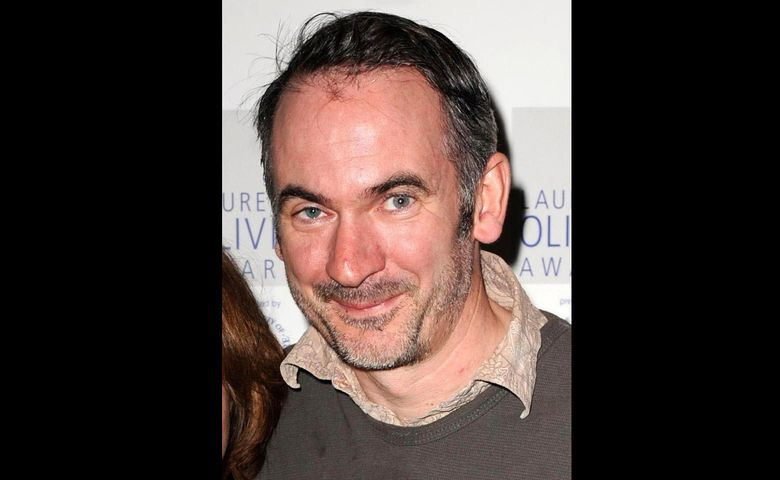 """FILE – In this Feb. 24, 2009 file photo, British actor Paul Ritter. Ritter, who appeared in the """"Harry Potter"""" franchise and played a key figure behind nuclear disaster in """"Chernobyl,"""" has died aged 54. Ritter agent said the actor died at home on the evening of Monday, April 5, 2021 and had been suffering from a brain tumour. Ritter was a familiar face to British television viewers and theatregoers, famous as eccentric patriarch Martin Goodman in the Chanel 4 sitcom """"Friday Night Dinner."""" He also played ill-fated nuclear engineer Anatoly Dyatlov in the HBO drama """"Chernobyl"""" and the wizard Eldred Worple in """"Harry Potter and The Half-Blood Prince,"""" and appeared as a devious political operative in the James Bond film """"Quantum of Solace."""" (Zak Hussein/PA via AP, FIle)"""