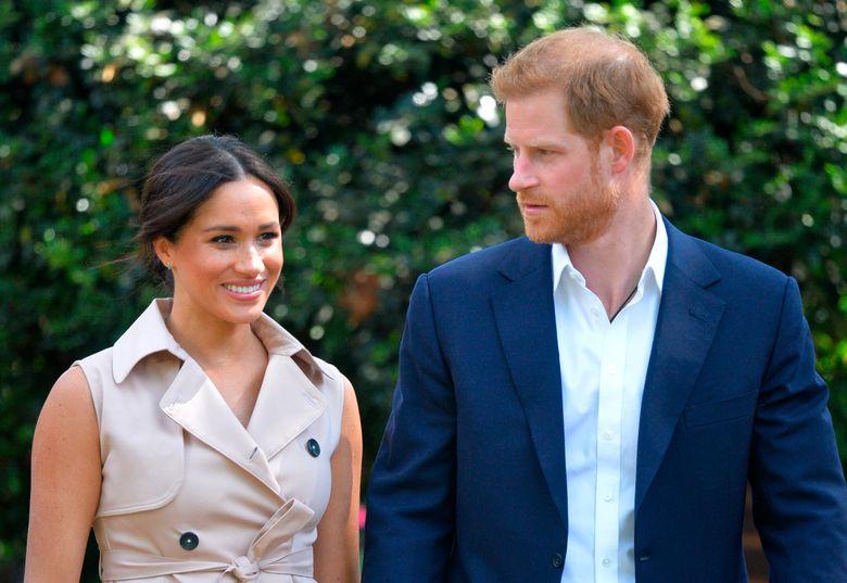 Britain's Prince Harry and Meghan Markle  (Dominic Lipinski/Pool via AP, file)
