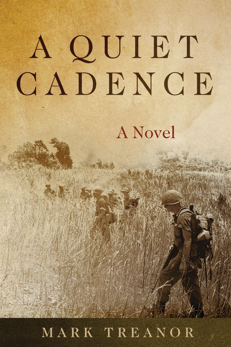 """This cover image released by Naval Institute Press shows """"A Quiet Cadence,"""" a novel by Mark Treanor. The novel is this year's recipient of the William E. Colby Award for best debut book, fiction or nonfiction, military history, foreign policy or intelligence operations. Treanor was a Marine in Vietnam and has a long career in public service. (Naval Institute Press via AP)"""