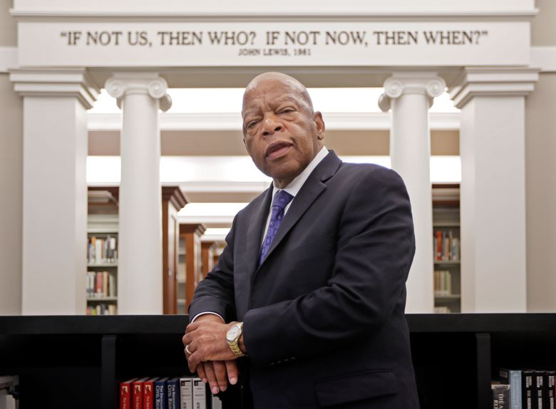 """FILE – This Nov. 18, 2016 file photo shows Rep. John Lewis, D-Ga., in the Civil Rights Room in the Nashville Public Library in Nashville, Tenn.  Some last thoughts from Lewis will be published this summer. Grand Central Publishing announced Tuesday that Lewis' """"Carry On: Reflections for a New Generation"""" will come out July 13, almost a year after he died at age 80. (AP Photo/Mark Humphrey, File)"""