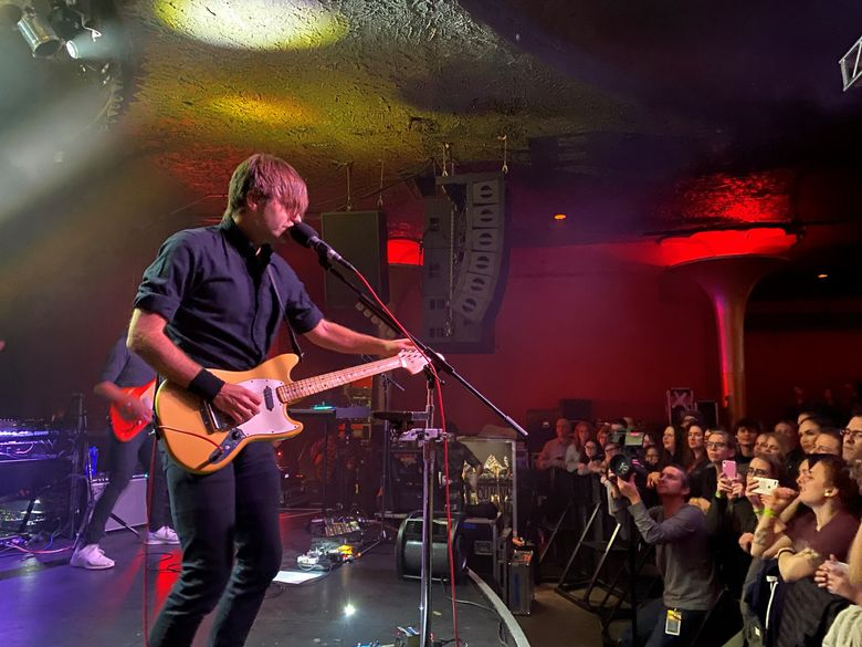 Seattle indie-rock stars Death Cab for Cutie are releasing a live album recorded during a three-night stand at the Showbox in February 2020. (Michael Rietmulder / The Seattle Times)