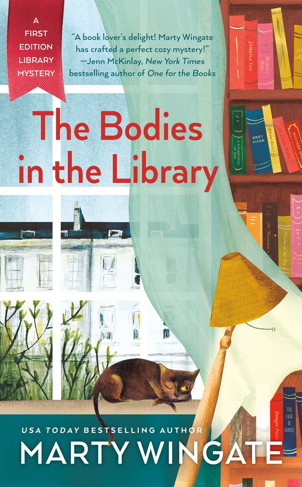 """""""The Bodies in the Library"""" by Marty Wingate (Penguin Random House)"""