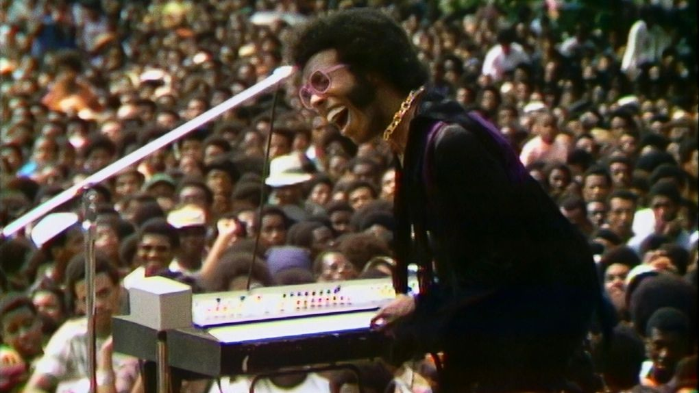"""Sly Stone in the music documentary """"Summer of Soul."""" (Searchlight Pictures)"""