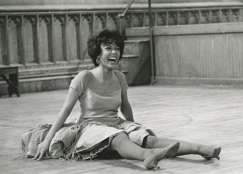 """In """"Rita Moreno: Just a Girl Who Decided to Go For It,"""" the acting legend is shown behind the scenes of """"West Side Story."""" The EGOT (Emmy, Grammy, Oscar and Tony) winner received an Academy Award for her role in that 1961 film.  (Courtesy of MGM Media Licensing)"""