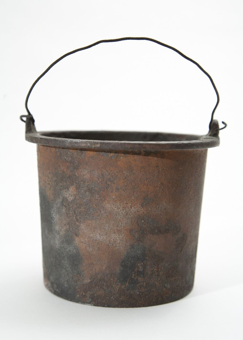 """The glue pot that started the """"Great Seattle Fire"""" in June 1889 is on display at MOHAI. (Courtesy of MOHAI)"""