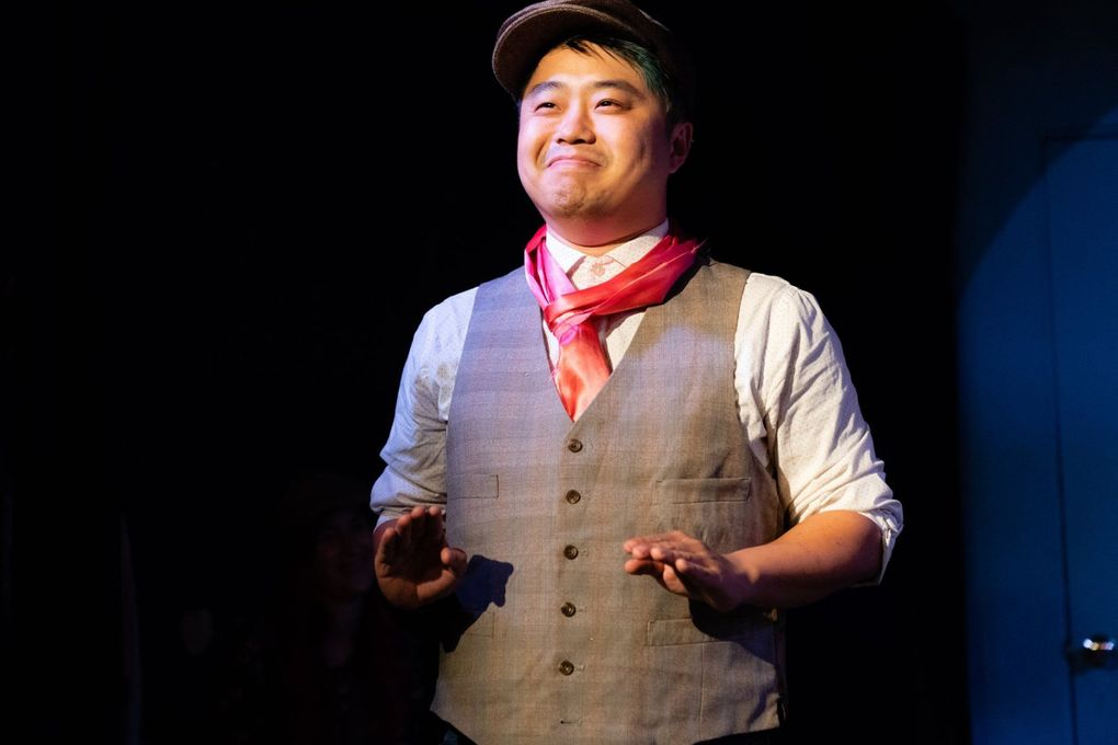 """Michael Yichao in the """"48 Hour Improv Marathon"""" at Hideout Theatre in Austin, Texas, in 2019. (Steve Rogers)"""