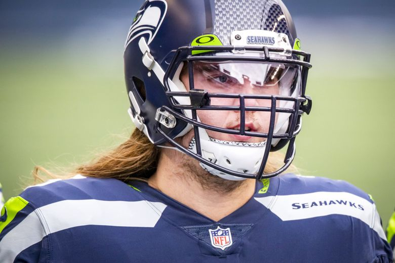 SEAHAWKS FILE   Seahawks offensive tackle Chad Wheeler warms up before the Seattle Seahawks take on the Los Angeles Rams at Lumen Field in Seattle, Sunday December 27, 2020. 215973 215973 (Bettina Hansen / The Seattle Times)