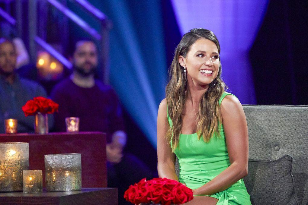 "Katie Thurston on Monday night's ""The Bachelorette: The Men Tell All."" (Craig Sjodin / ABC)"