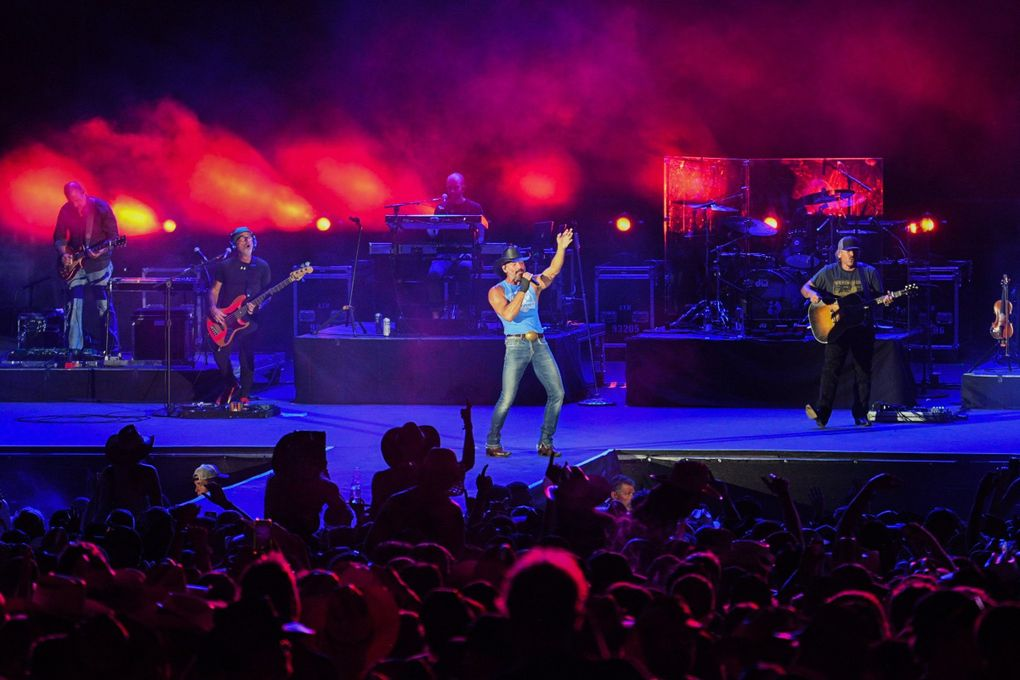 Tim McGraw headlines Watershed, Washington state's premier country fest. On Friday night, he got the crowd roaring, moving through three decades of hits. (Matt Lamb)