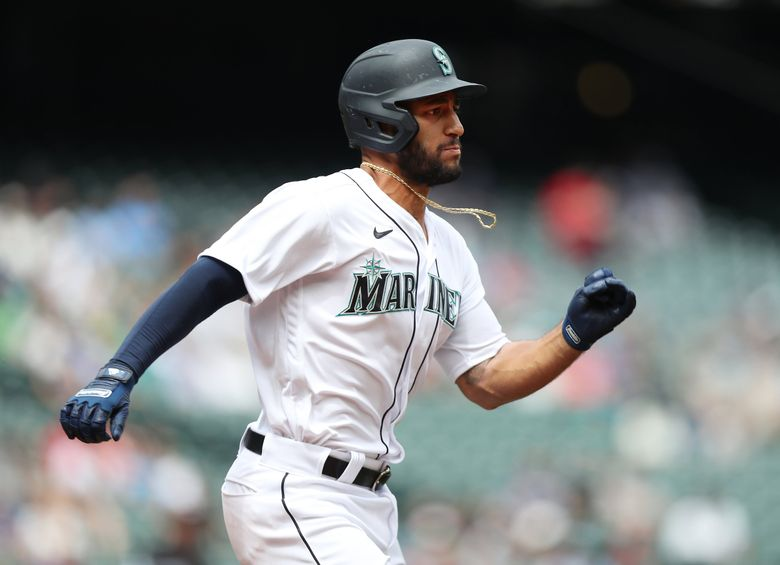 Abraham Toro's position with the Mariners seems to be second base. (Ken Lambert / The Seattle Times)