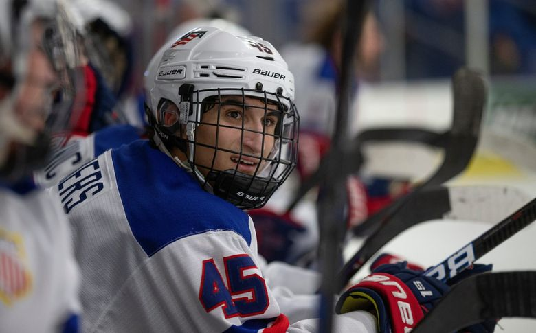 Matty Beniers played for gold-medal-winning Team USA at the IIHF World Junior Championship in January and again against NHL players at the IIHF World Championship in May. (Rena Laverty/USA Hockey's NTDP / TNS)