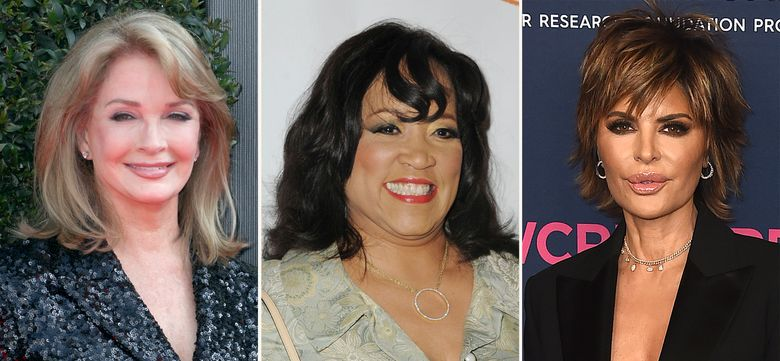 """In this combination photo, Deidre Hall, from left, arrives at the 45th annual Daytime Emmy Awards on April 29, 2018, in Pasadena, Calif., Jackee Harry attends Lupus LA's Hollywood Bag Ladies Luncheon on Nov. 1, 2012, in Beverly Hills, Calif. and Lisa Rinna attends An Unforgettable Evening on Feb. 27, 2020, in Beverly Hills, Calif.. The NBC soap opera """"Days of our Lives"""" is getting its own spinoff for Peacock. The streaming service announced Monday, July 26, 2021, it has ordered five episodes of """"Days of our Lives: Beyond Salem."""" The series will feature both past and present characters of the series, including Hall as Dr. Marlena Evans, Rinna as Billie Reed and Harry as Paulina Price. (AP Photo)"""