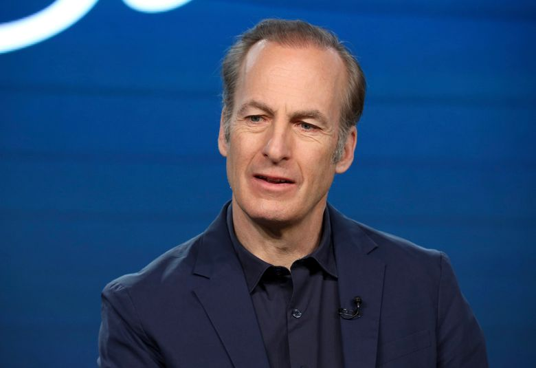 """FILE – In this Jan. 16, 2020, file photo, Bob Odenkirk speaks at the AMC's """"Better Call Saul"""" panel during the AMC Networks TCA 2020 Winter Press Tour in Pasadena, Calif. Odenkirk collapsed on the show's New Mexico set Tuesday, July 27, 2021, and had to be hospitalized. Crew members called an ambulance that took the 58-year-old actor to a hospital, where he remained Tuesday night, a person close to Odenkirk who was not authorized to speak publicly on the matter told The Associated Press. (Photo by Willy Sanjuan/Invision/AP, File)"""